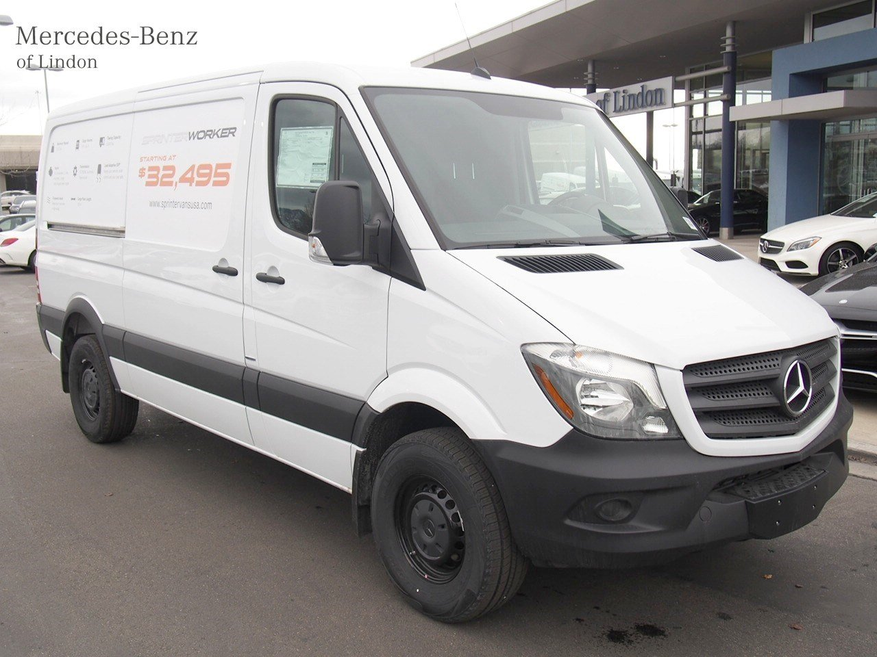 New 2016 mercedes benz sprinter cargo vans worker cargo for Mercedes benz sprinter luxury van price